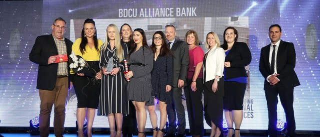 BDCU Alliance Bank Win Professional Services Business Award.