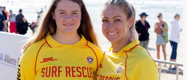 Sian and Jorgia, lifesavers at Ocean Grove Life Saving Club
