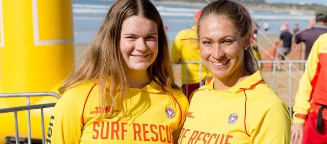 Sian and Jorgia, Surf Life Savers, Ocean Grove